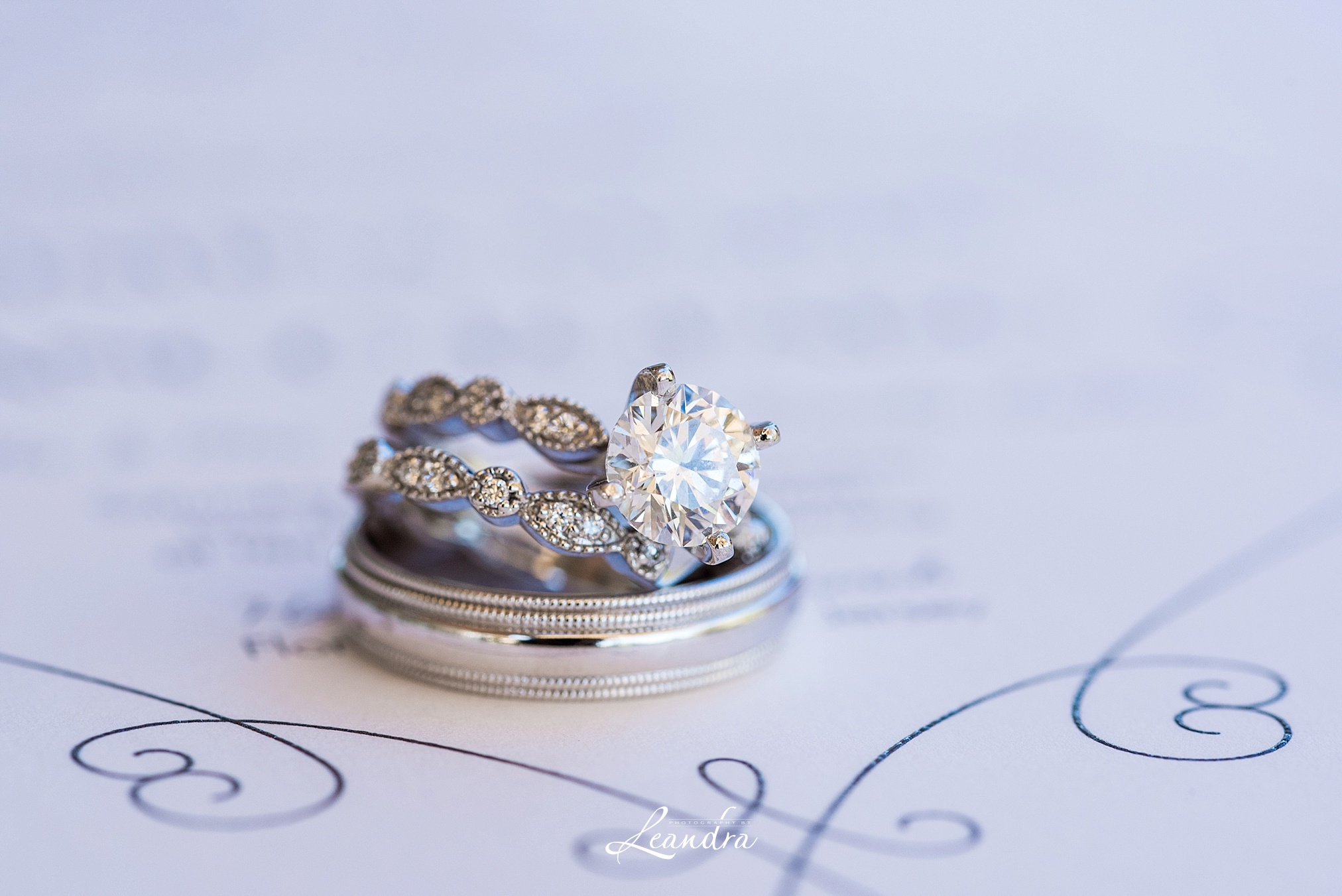 Picture of Wedding Rings at The Park Savoy Estate Wedding | New Jersey Wedding Photographer