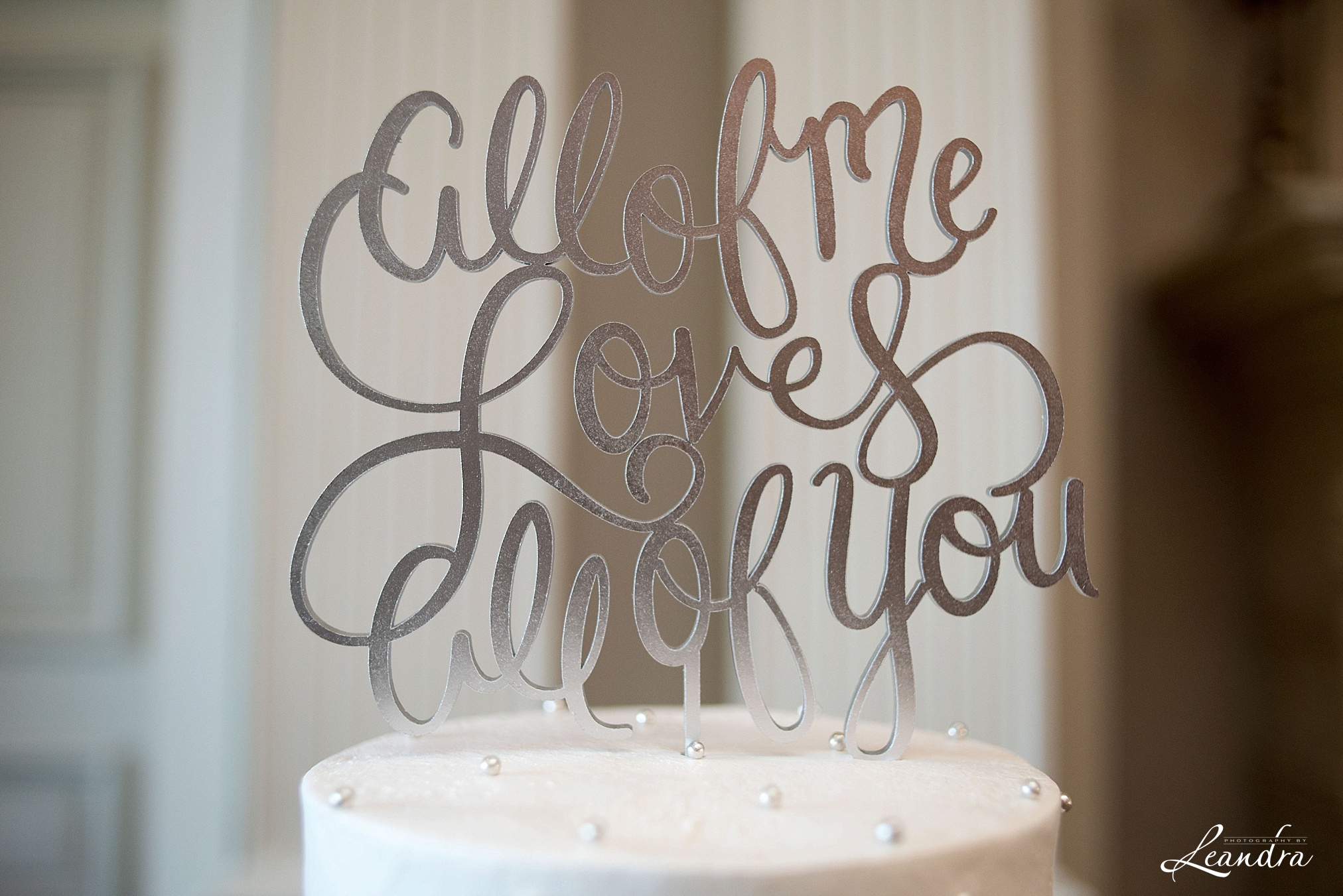 The Park Savoy Estate Wedding All of me loves all of you cake topper | New Jersey Wedding Photographer