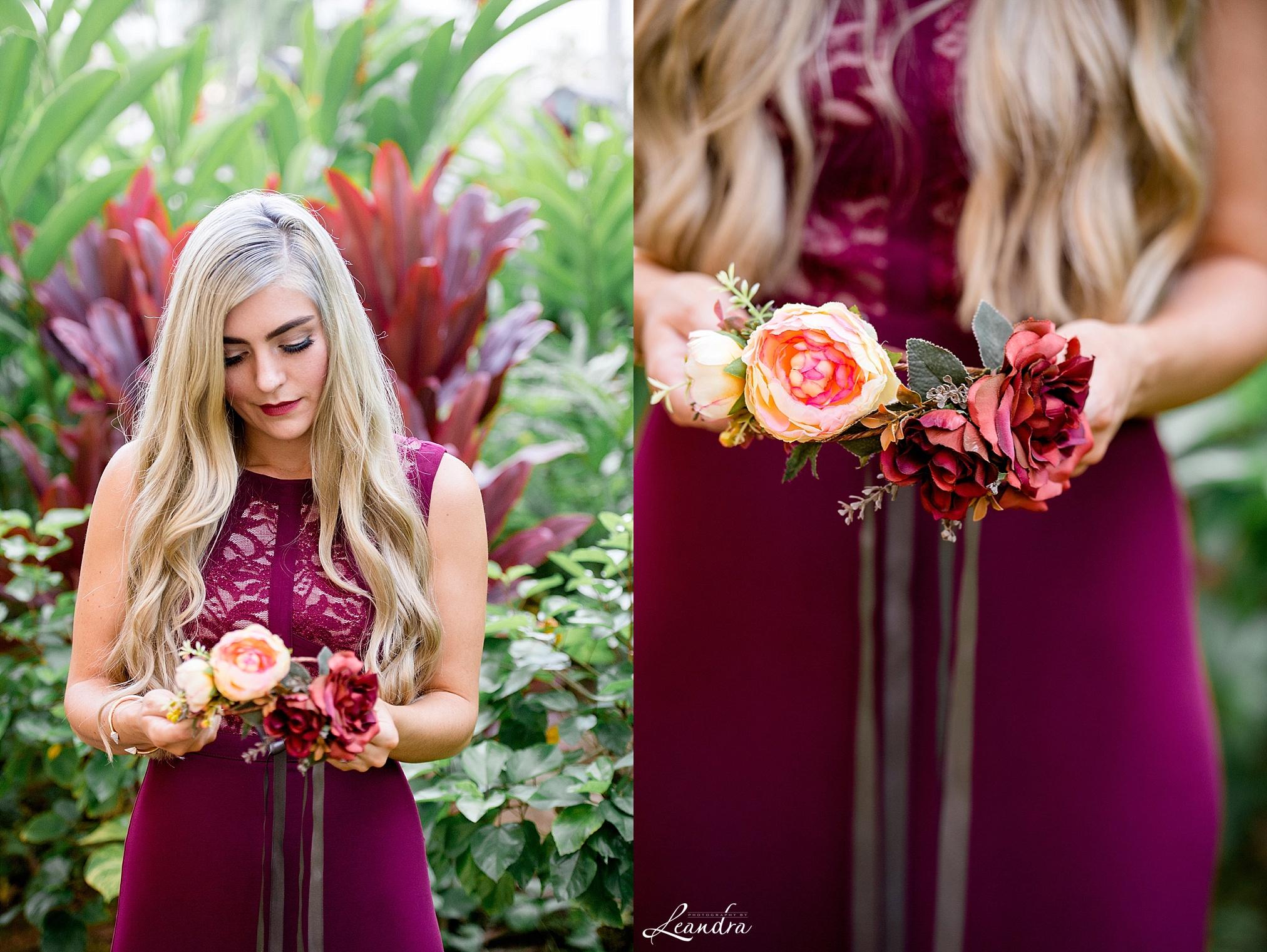 Oh Dina DIY flower crown Kauai Destination Wedding Photographer | Photography by Leandra