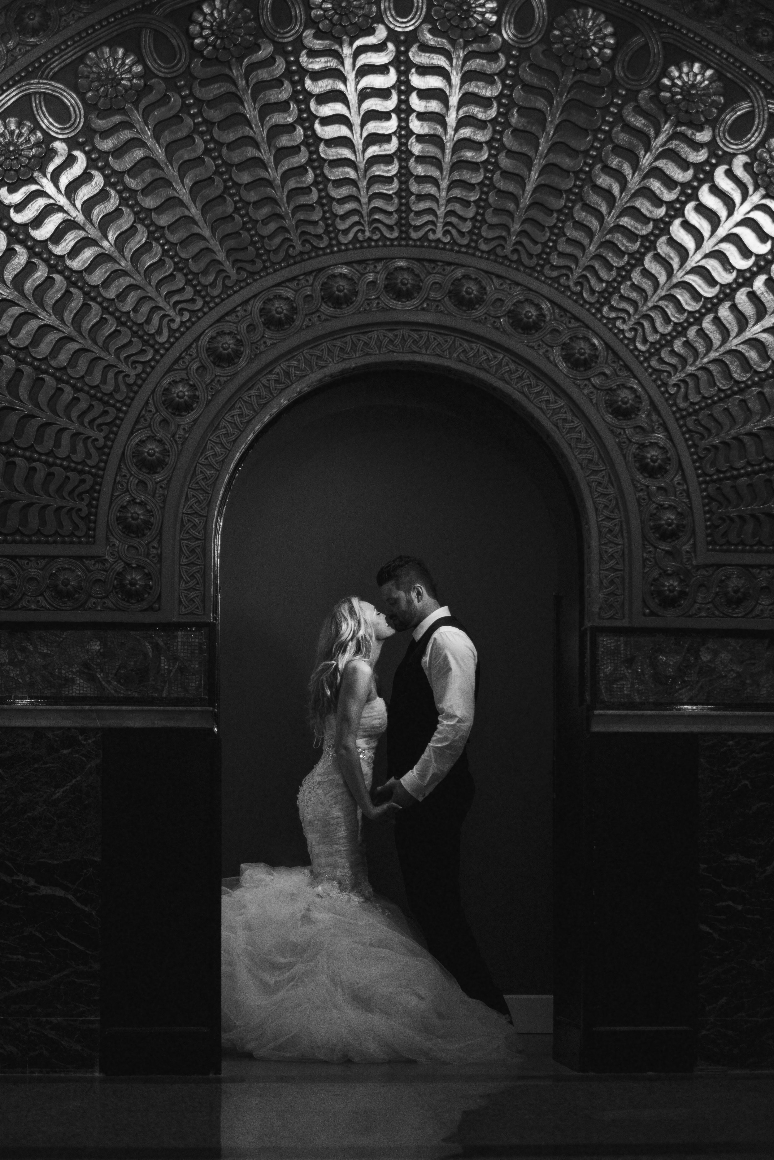 Bride and Groom St. Louis Union Station Wedding Photographer