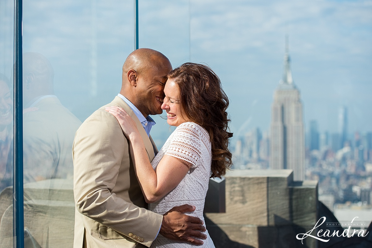 Top of the Rock NYC Engagement Session. Photography by Leandra_0051.jpg
