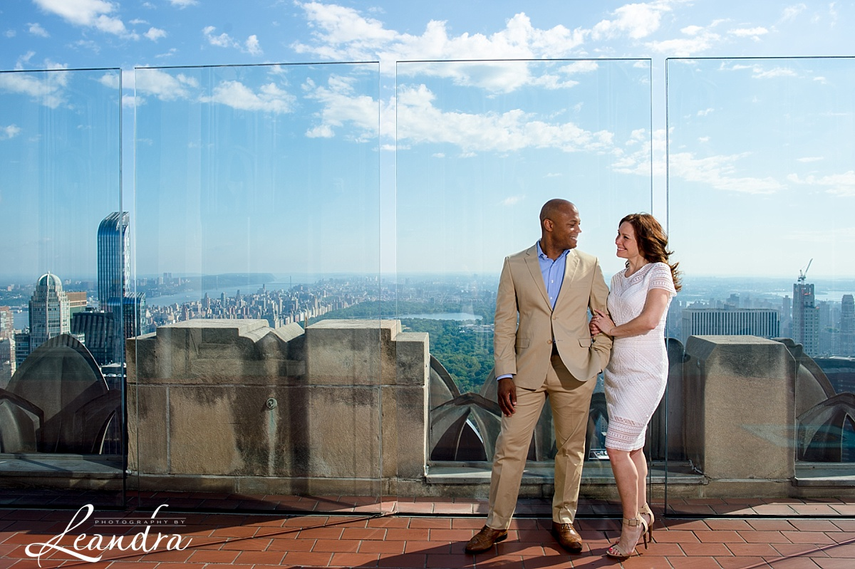 Top of the Rock NYC Engagement Session.Photography by Leandra_0054.jpg