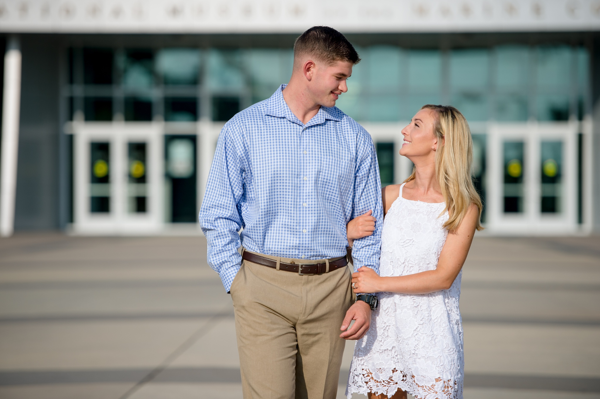 Engagement photos at the National Museum of the Marine Corps