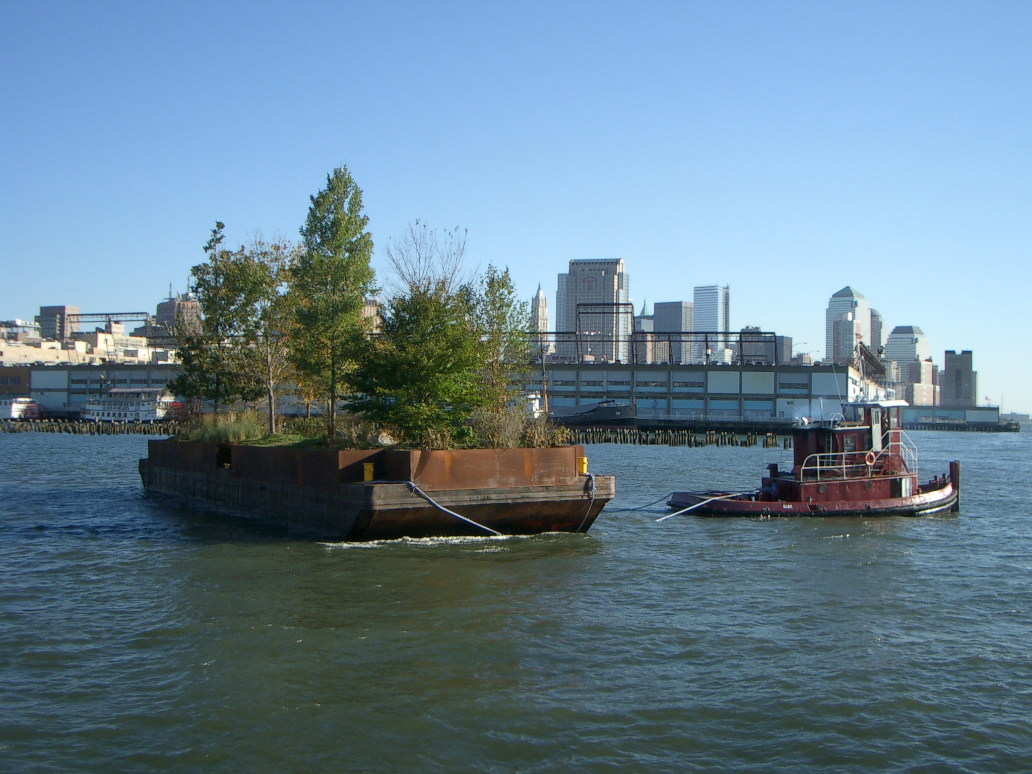"Robert Smithson's ""Floating Island"". New York City, USA. September 2005. Photograph: Author's own."