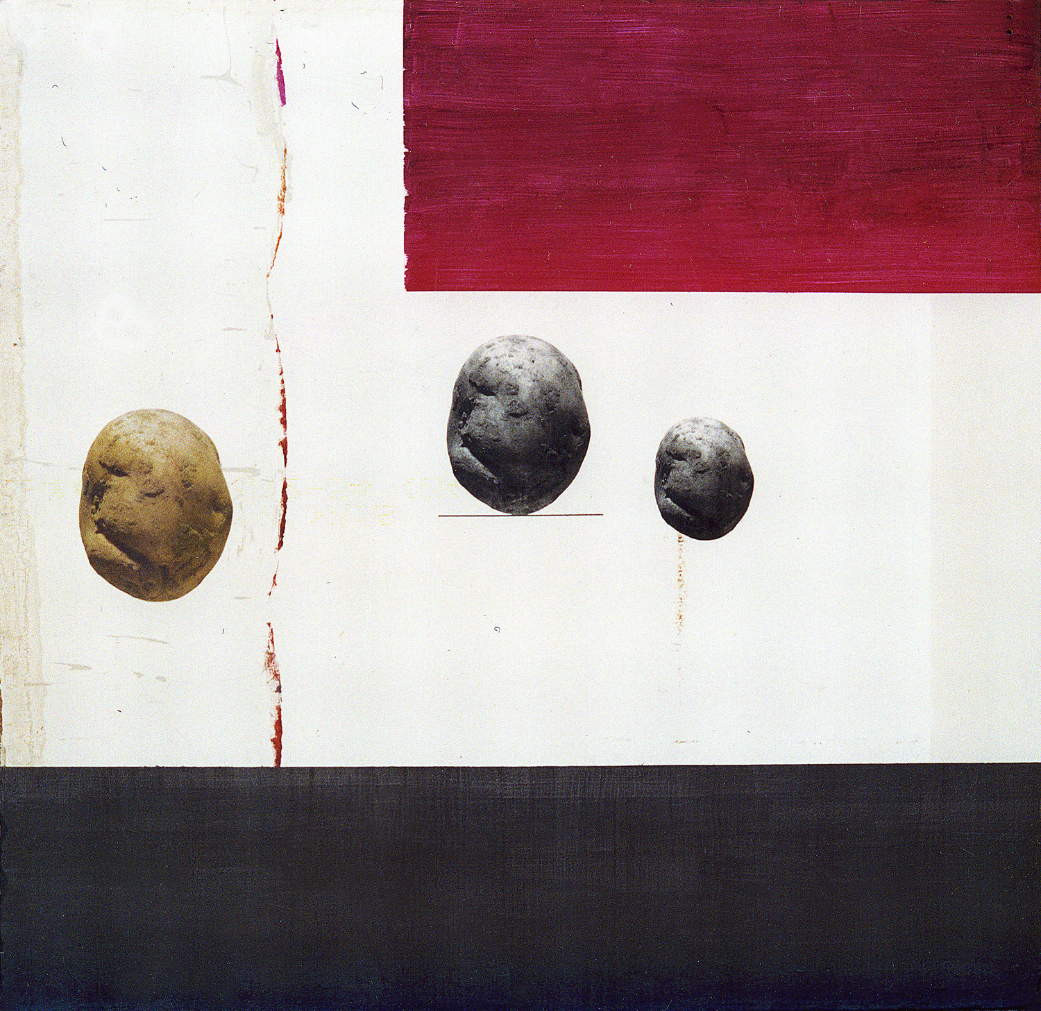 Colour No Colour,  2001, acrylic, collage on chipboard