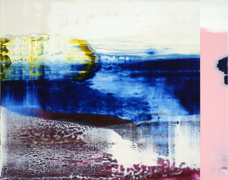 Hochwasser #6 , 2015, 32 x 40 cm, acrylic on mdf