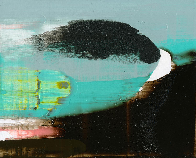 'Ditch', 2016, acrylic on panel, 23,5 x 29 cm