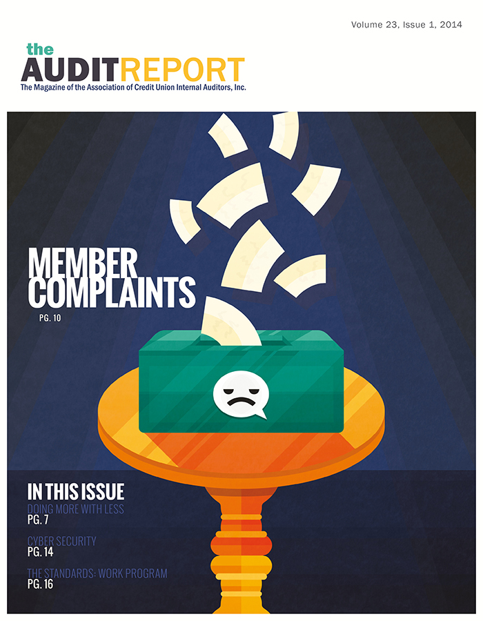 'The Audit Report' - Magazine Cover