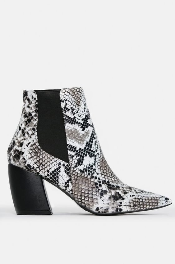 Snake Print Boots -