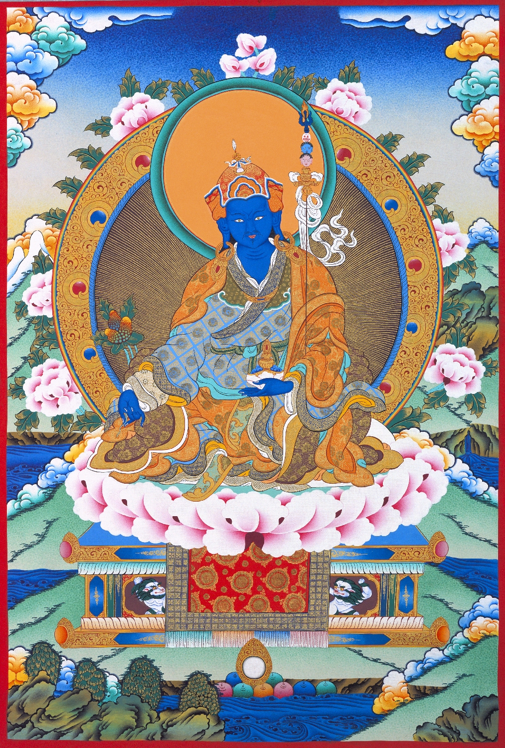 Padmasambhava or Guru Rinpoche was responsible for bringing Vajrayana Buddhism to Tibet and the whole region in the                                                     800's AD