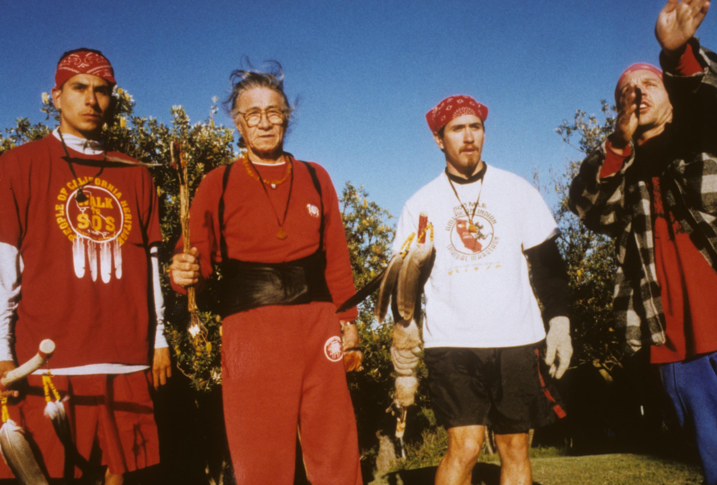 Runners from L-R. Emillio, Emmett (oldest runner at 70), Vince & Marcus