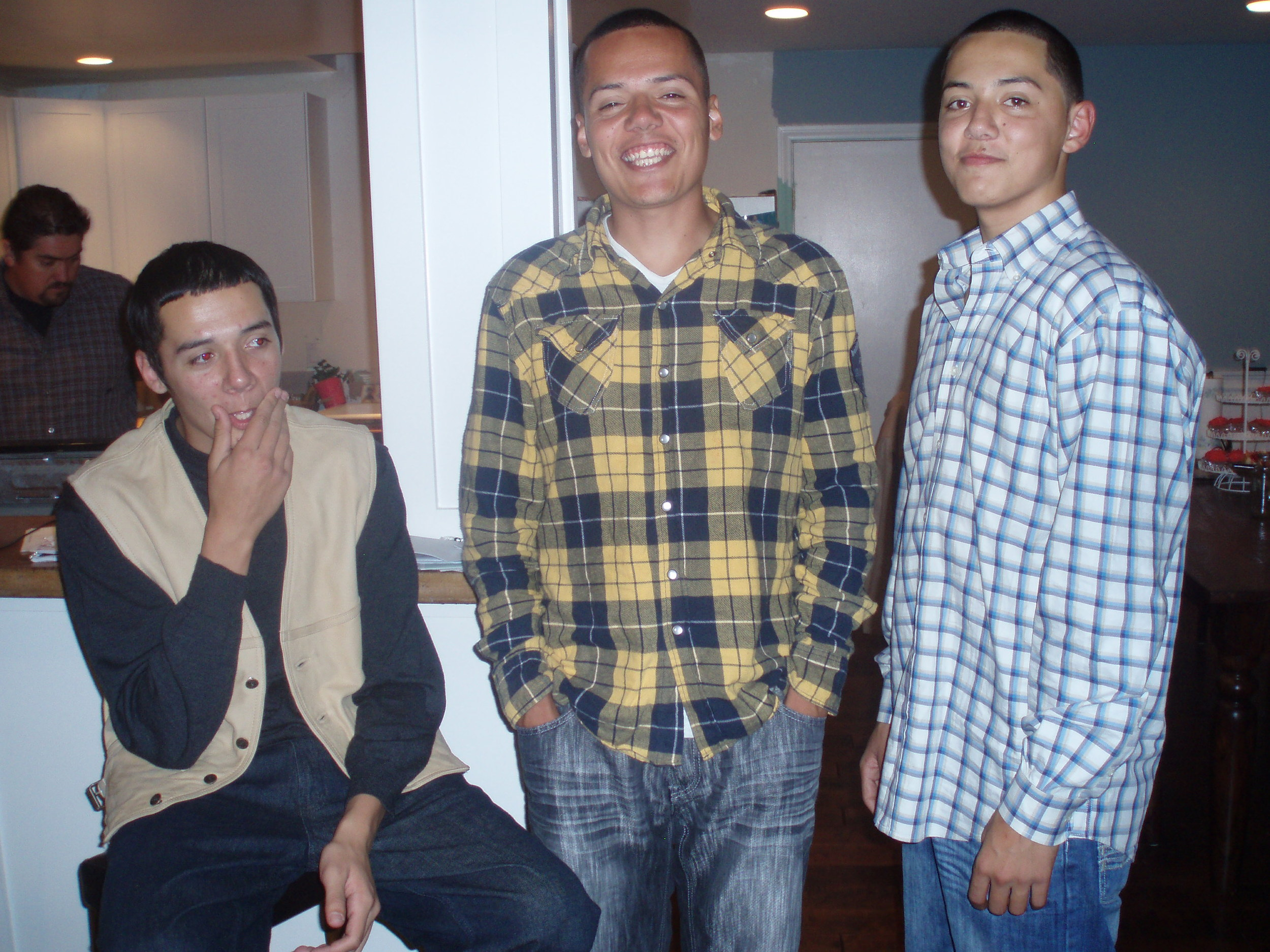 My brothers Manuel & Jesus w/ myself in the middle
