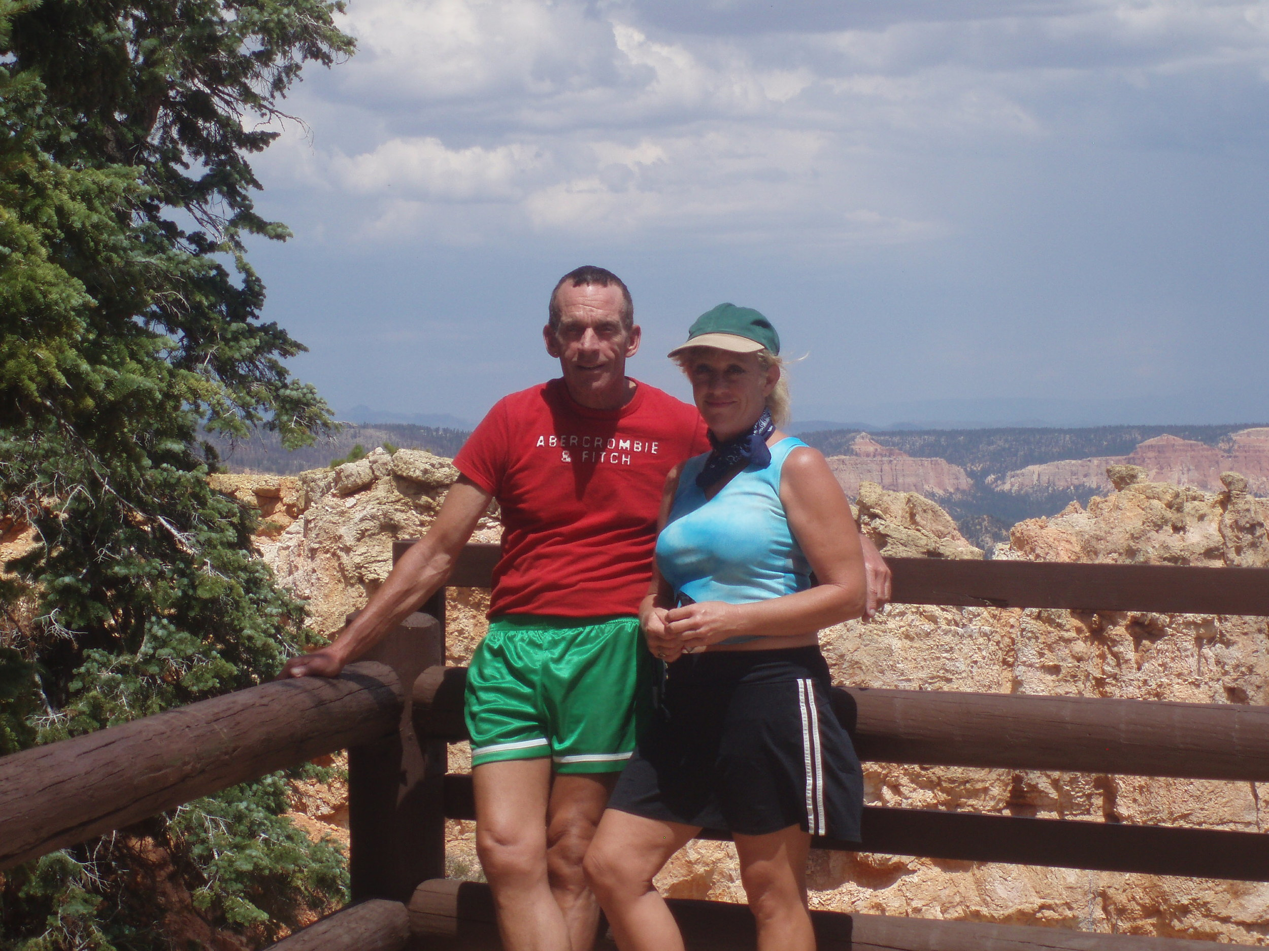 With my brother Mike at Bryce National Park, Utah