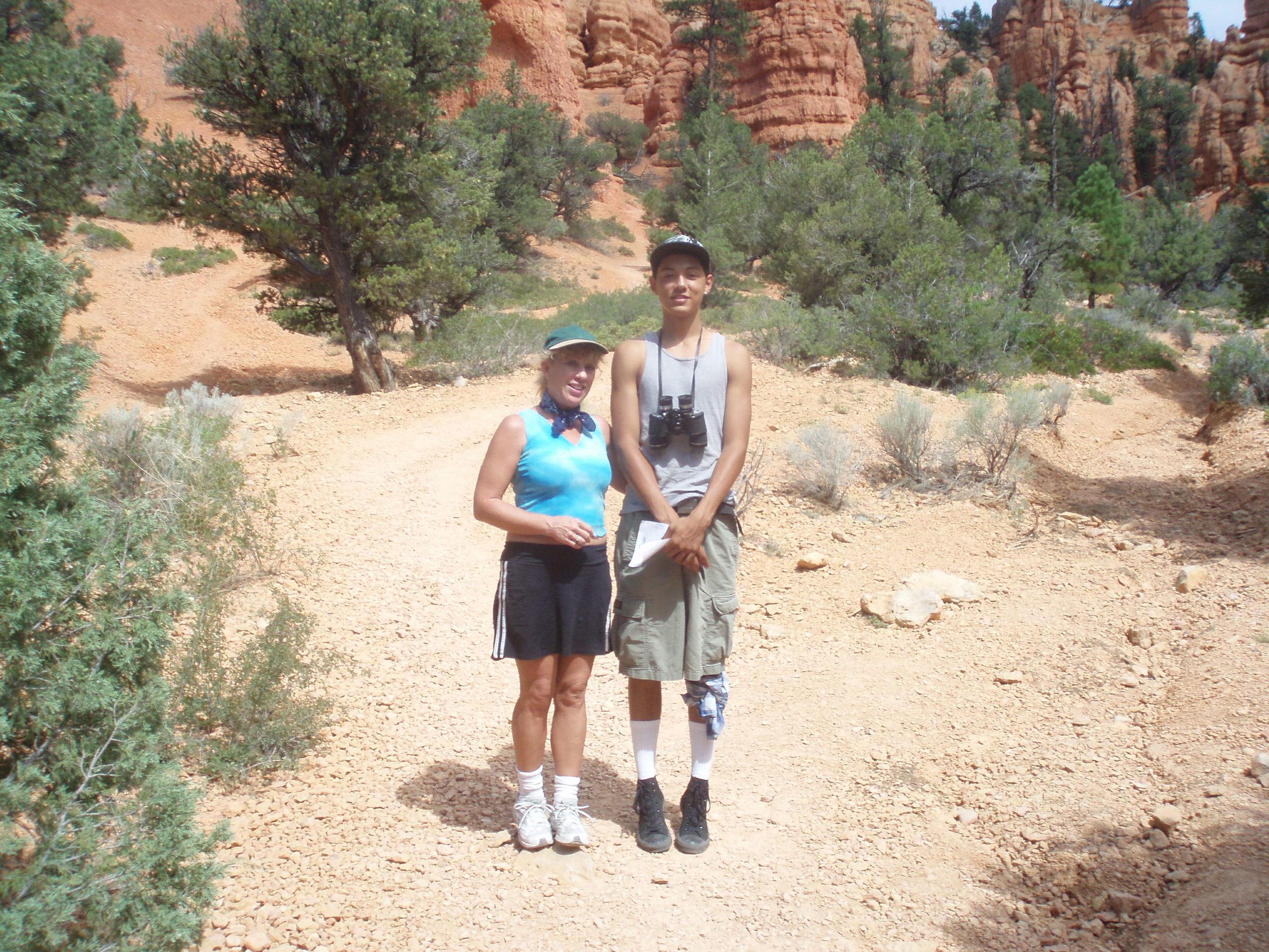 Hiking with Jesus Sanchez in Utah