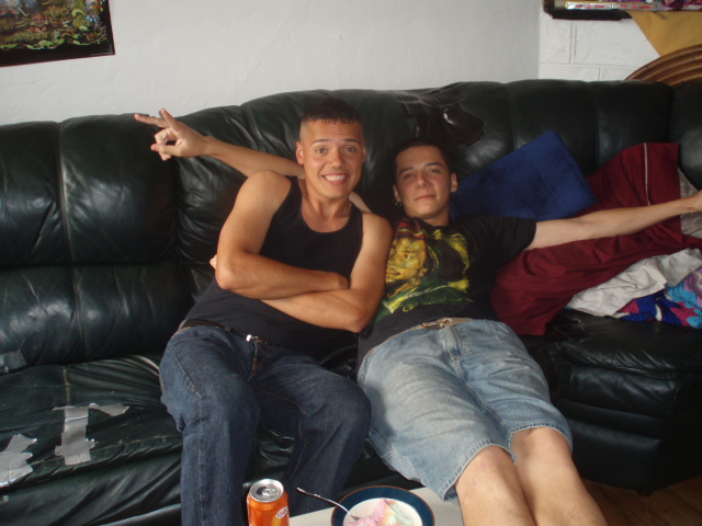 With my brother, Mannie