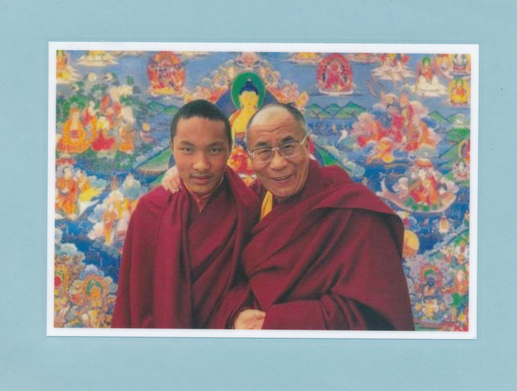 14th Dalai Lama, Tenzin Gyatso with HH Karmapa, Ogyen Trinley Dorje
