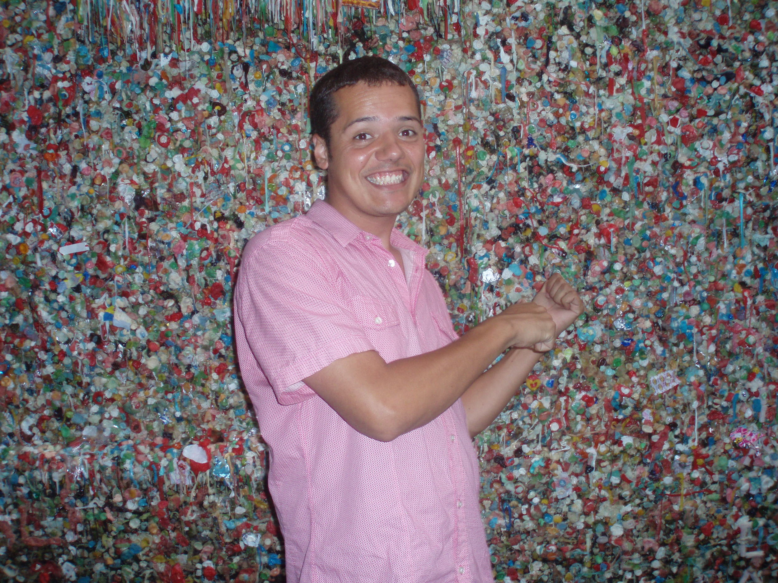 Bubble gum wall near Pike Place in Seattle