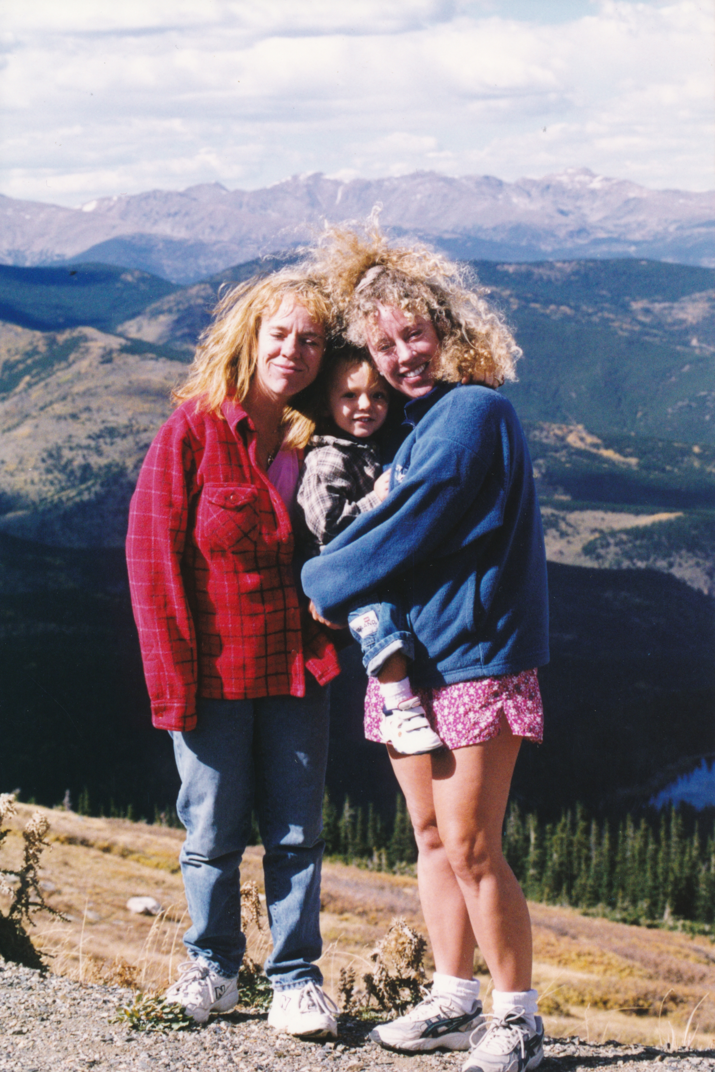 At Rocky Mountain National Park about 15 years ago with my sister Jacque and nephew Steven Jr.