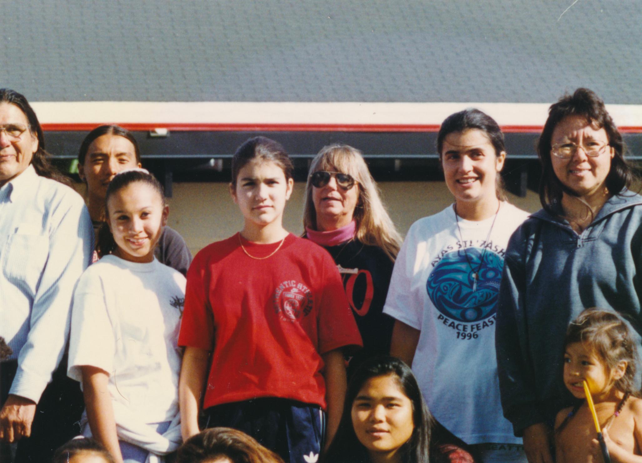 Dennis (far left), Elaine Sutterlick (far right)