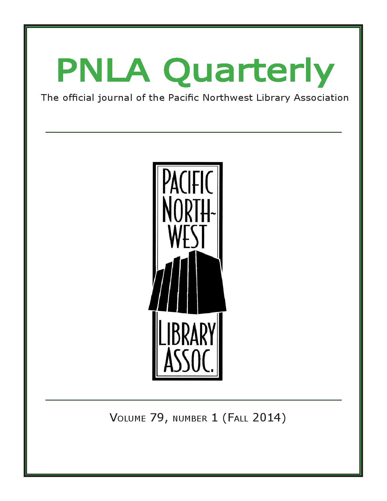 'If you seek her monument, look around': Mary Frances Isom and the Pacific Northwest Library Association (2014) - A biographical sketch of one of PNLA's most illustrious founders, Portland librarian Mary Frances Isom.