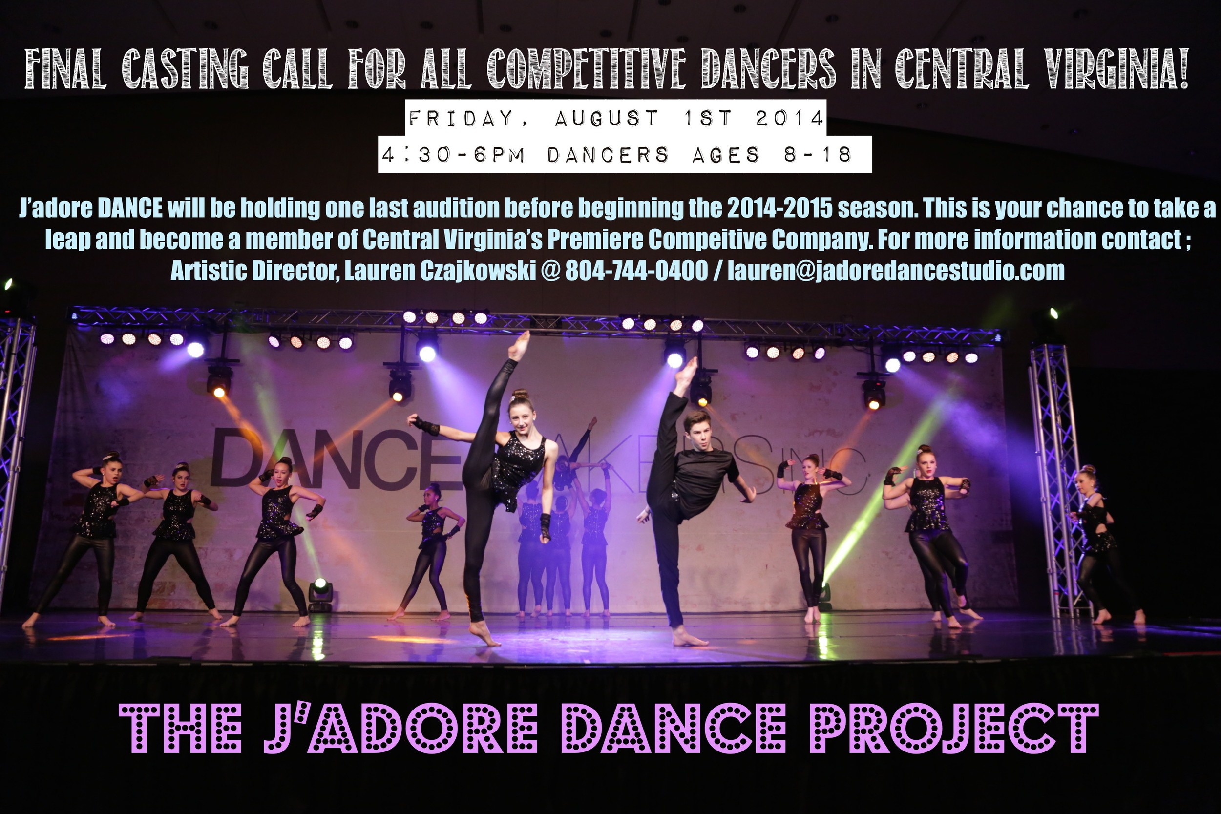 AUDITION OPPORTUNITY!!! Dancers ages 8-18