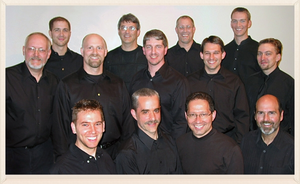 Sonnenberg Station  2006: L-R Front row: Kevin Himes, Winfred Ressler, Ellis Miller, Barry Hummel.   Second row: Chuck Merkle, Tim Shue, Steve Zuercher, Joel Short, Dan Zook.   Back row: Galen Kauffman, Doug Winkler, Terry Shue, Matt Yost. Photo by Chuck Merkle