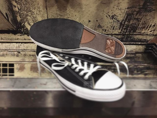 Suede dancing soles on a pair of Converse. Who knew your local cobbler could do that? ⚒💃🏻🕺#converse #dance #dancingshoes #surdesoles #sdcountyshoerepair #northcountyshoerepair #cobbler #shoerepair #smallbusiness #sanmarcosca