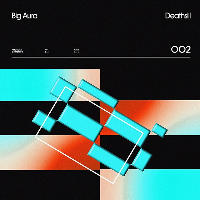 Big Aura ——— Deathsill  002 — new track up on @bandcamp  Think Tangerine Dream floating in the Lynchian universe of Lost Highway. . . . #albumartwork #americangrapefruit #bigauraband #graphicindex #coverdesign #stfranciselevatorride #ambientmusic