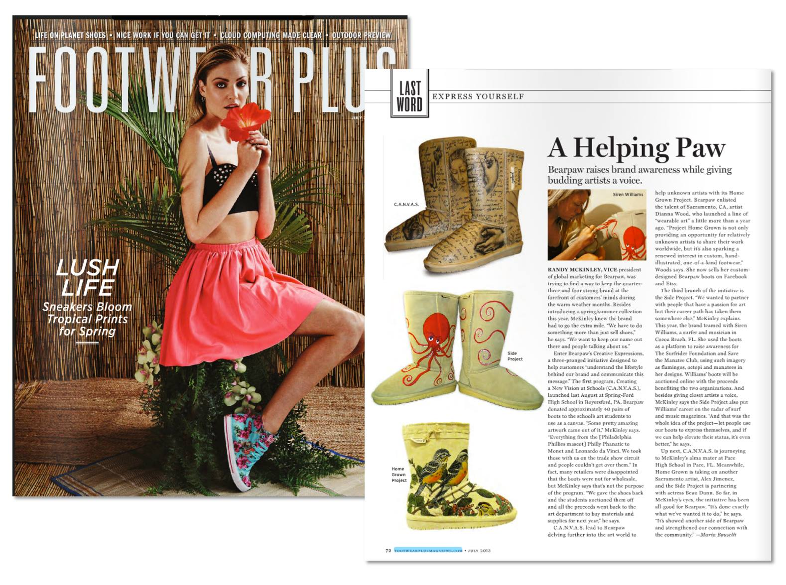 Footwear Plus Magazine | BEARPAW Homegrown project feature