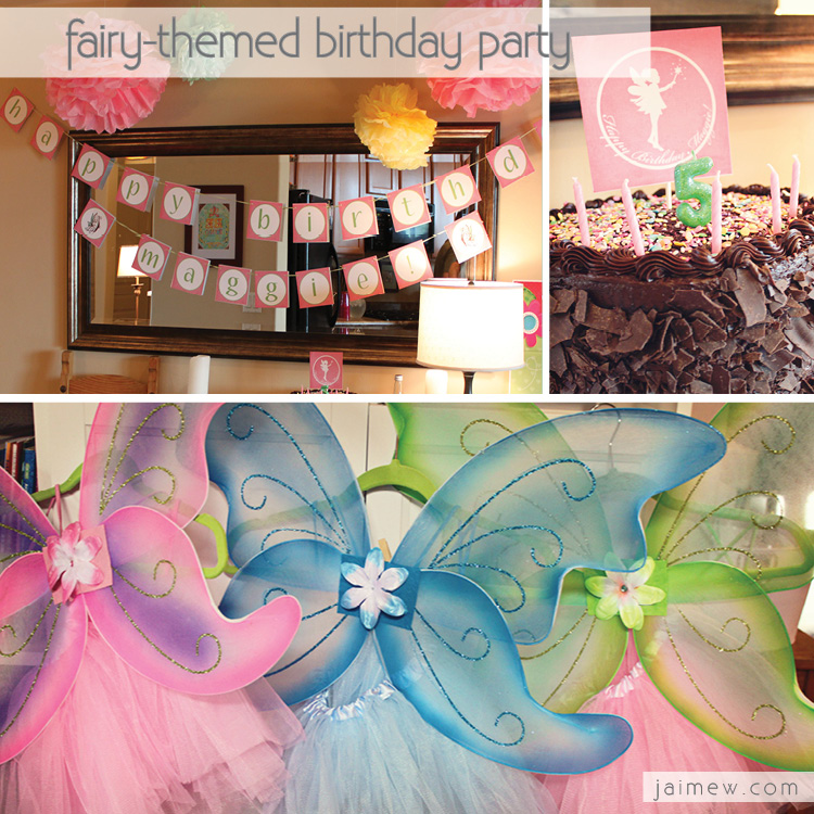 fairy themed little girl's birthday party