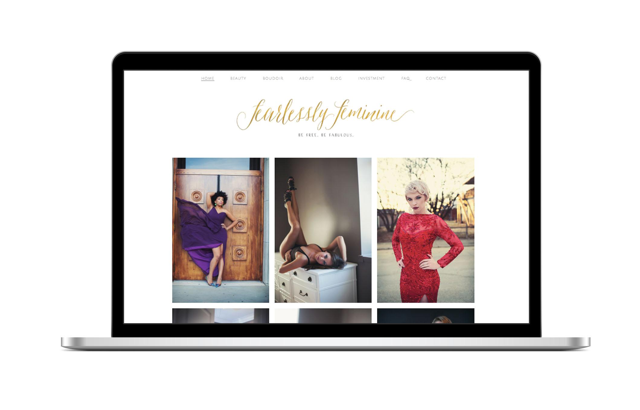 fearlessly feminine website design
