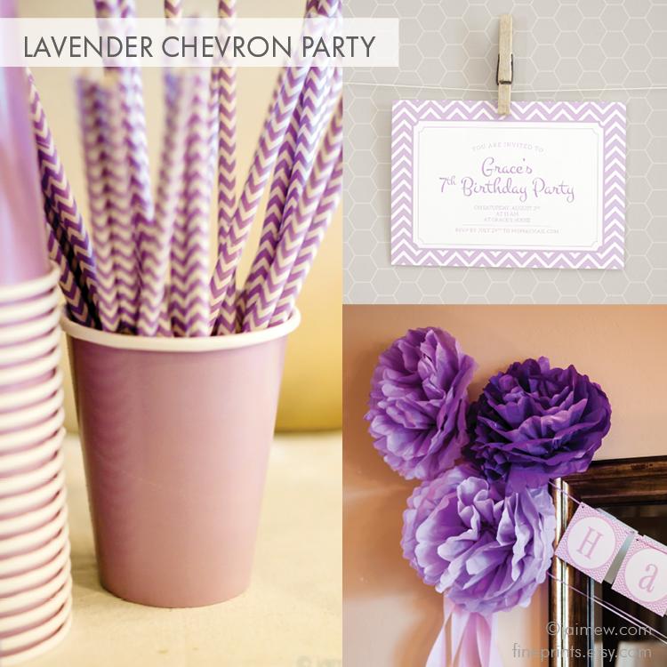 Lavender Chevron Birthday Party Ideas