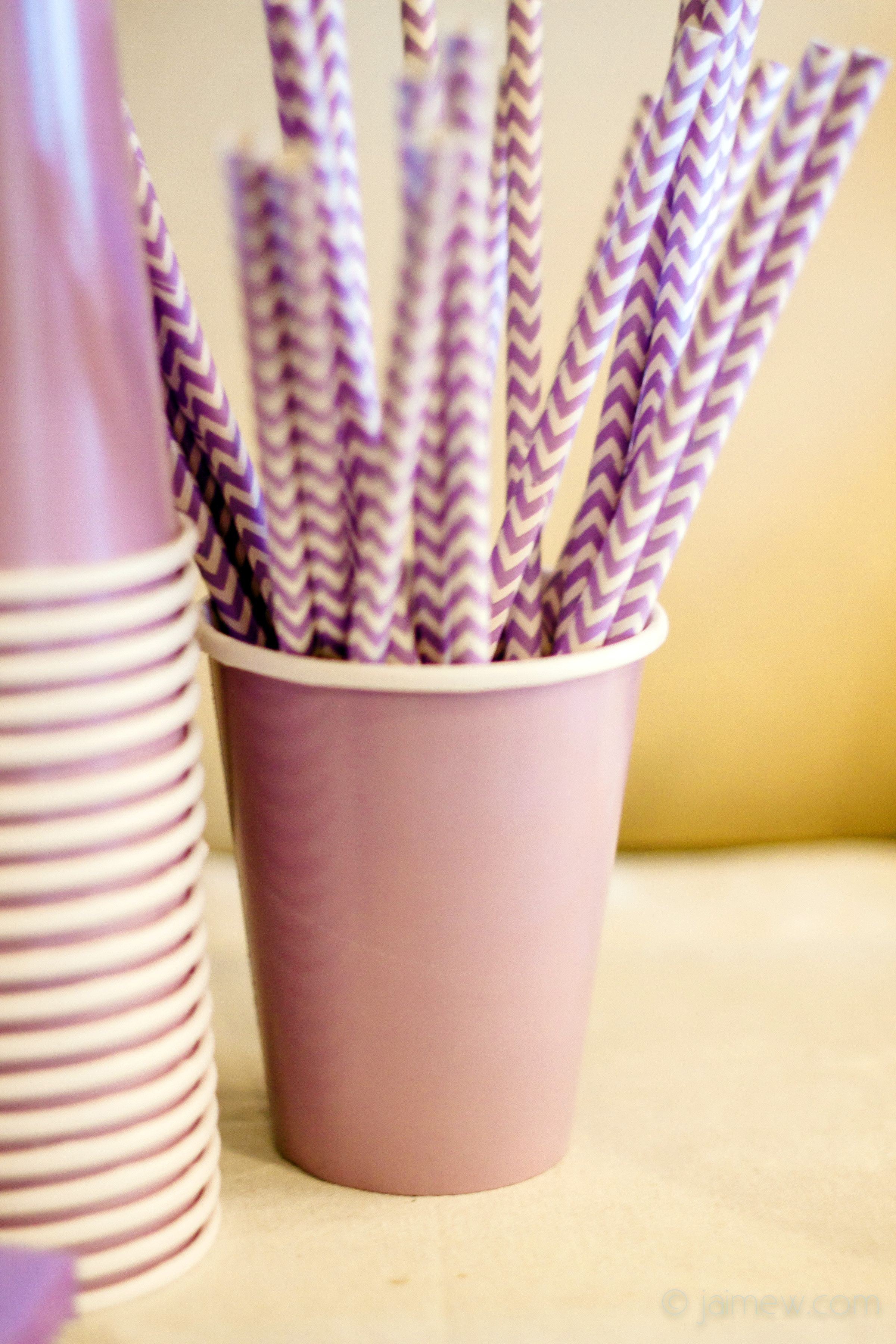 lavender chevron drinking straws for lavender chevron paper straws / birthday party decor