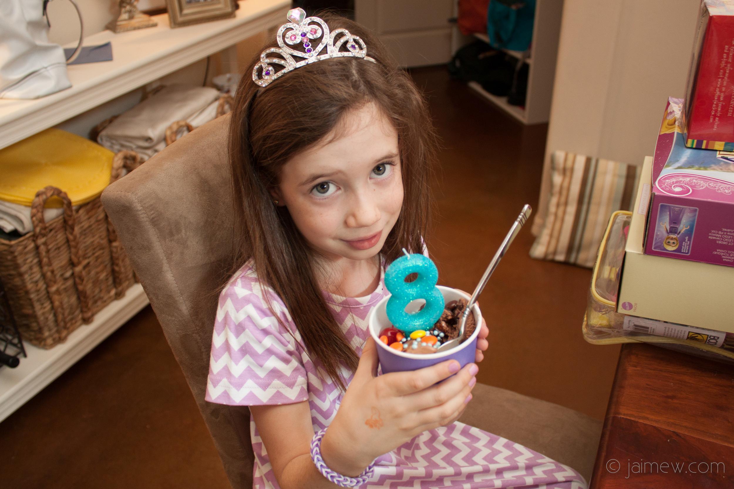 lavender chevron birthday party make your own ice cream sundae
