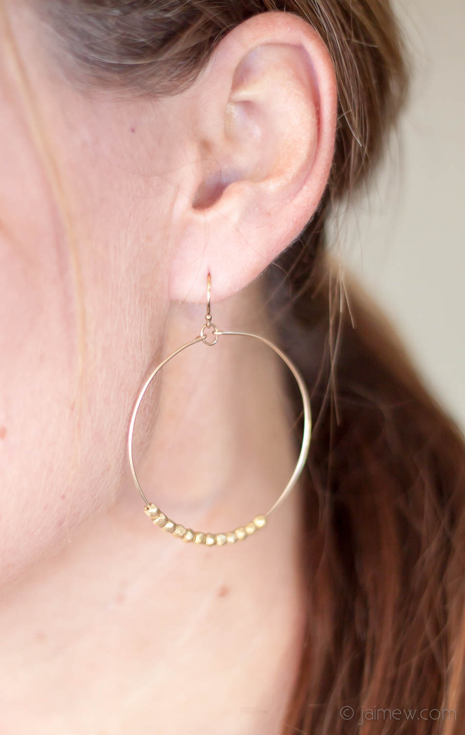 Stitch Fix Review / jill michael montgomery beaded hoop earrings