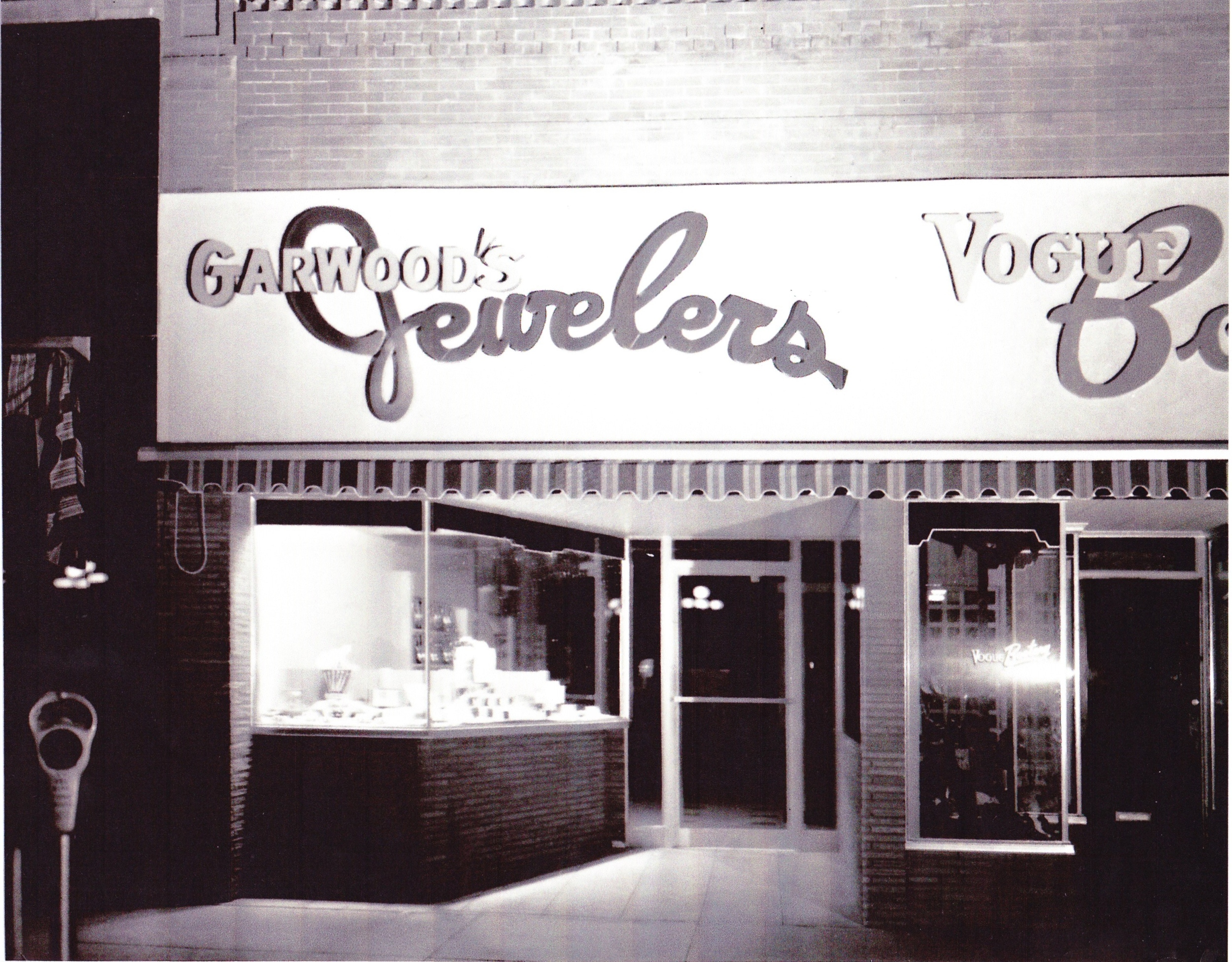 The storefront circa the 1950s at its current location of 131 S. College Ave.