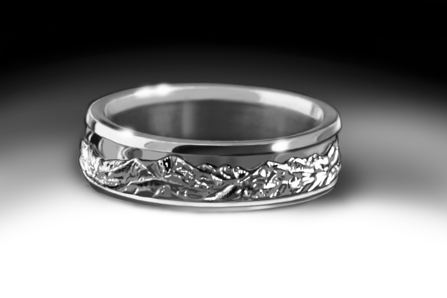 Northern Front Range Ring in White Gold