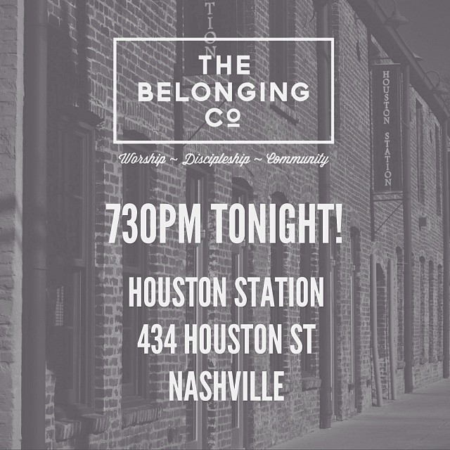 We're so excited about tonight!  HOUSTON STATION 434 Houston St Nashville  Can't wait to see you there!