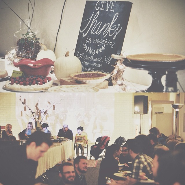 So great celebrating Thanksgiving with our crew tonight at The Belonging!