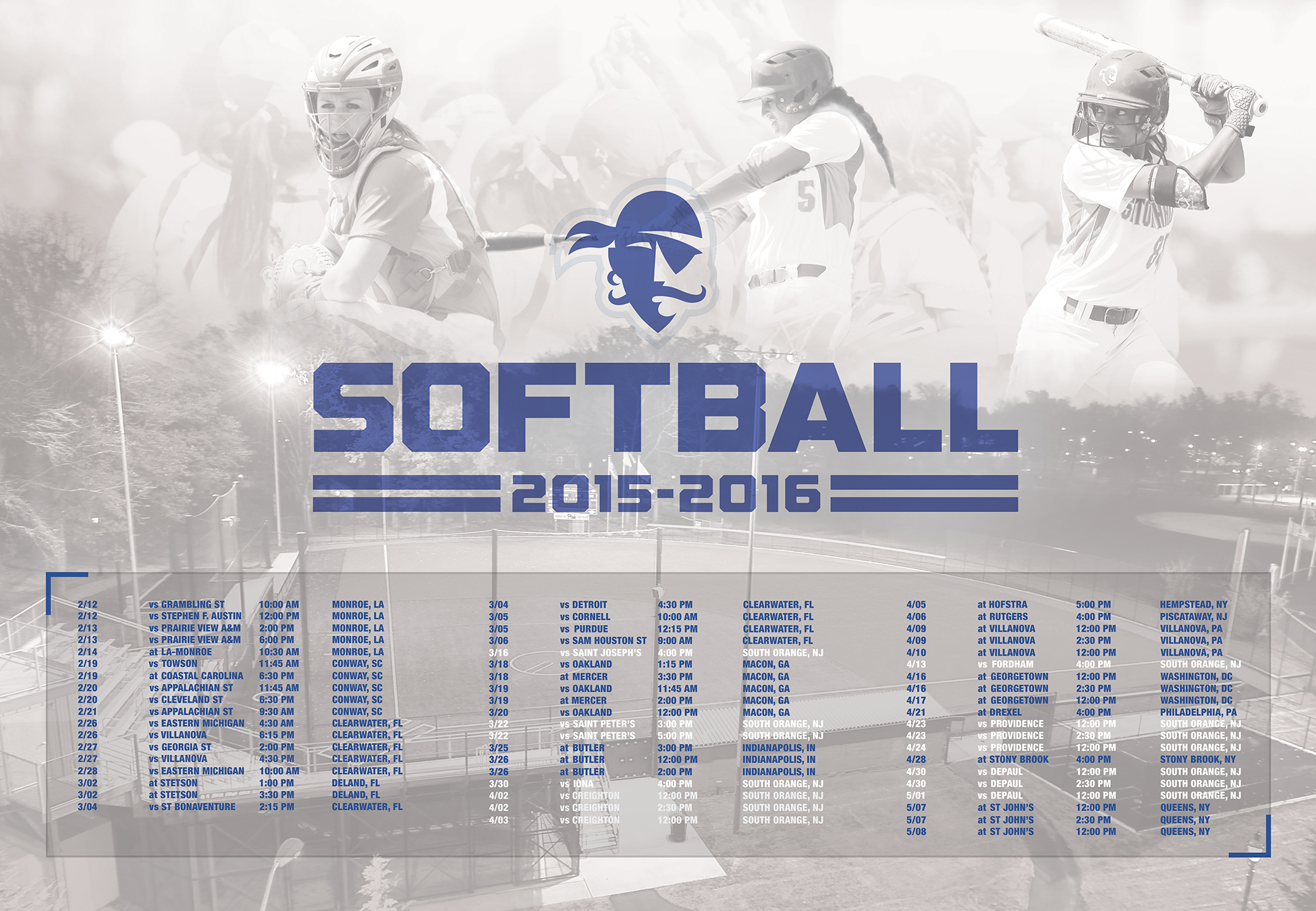 Seton Hall Softball Season Poster