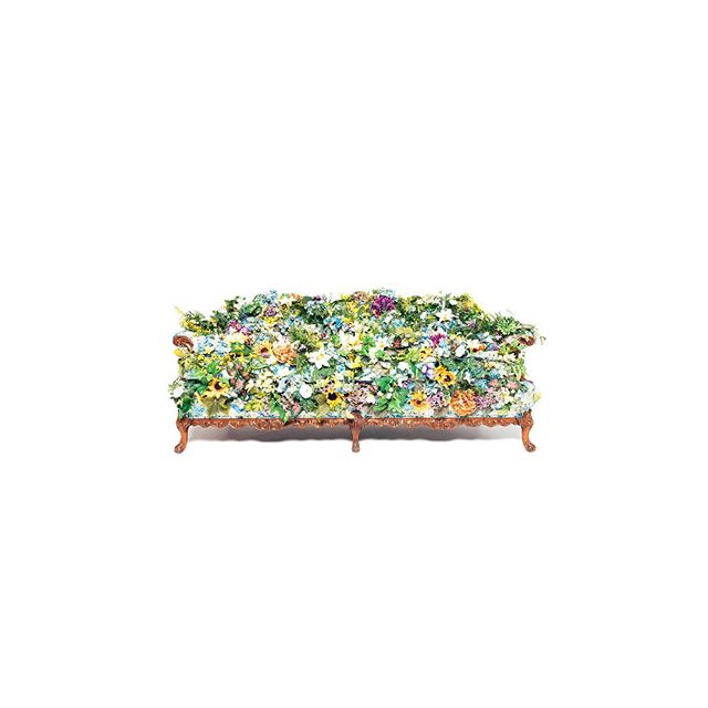 New album! This is the cover. It's a real sofa covered in flowers by the amazing @lauraphelpsrogers and photographed by the equally amazing @aldenbonecutter . Show on 8/30 @bluebirdtheater where we'll be jamming all the new jams. ✌🏻❤️ been working on these jams foreverrrr.