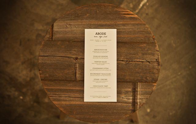 abode menu