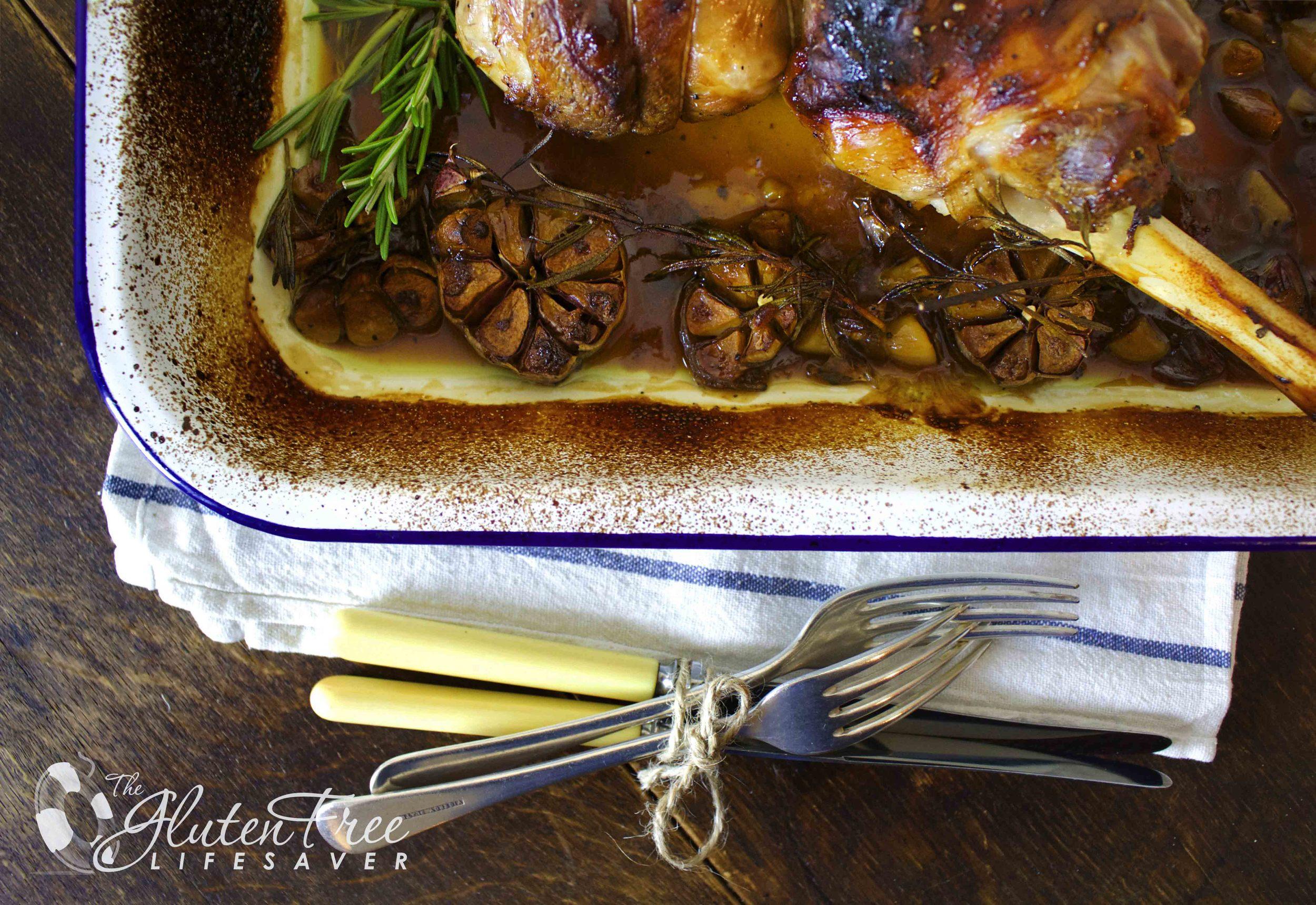 glutenfri lammestek med hvitløk og rosmarin