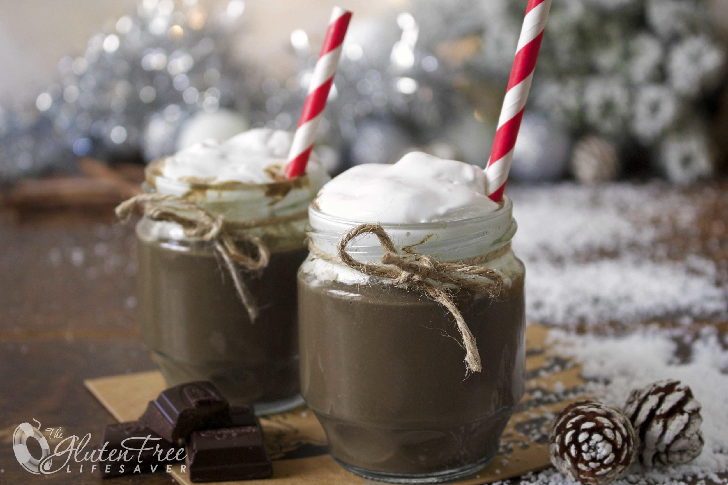Varm sjokolade smoothie til jul