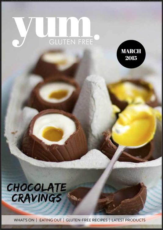 cover,yum. gluten free magazine march 2015