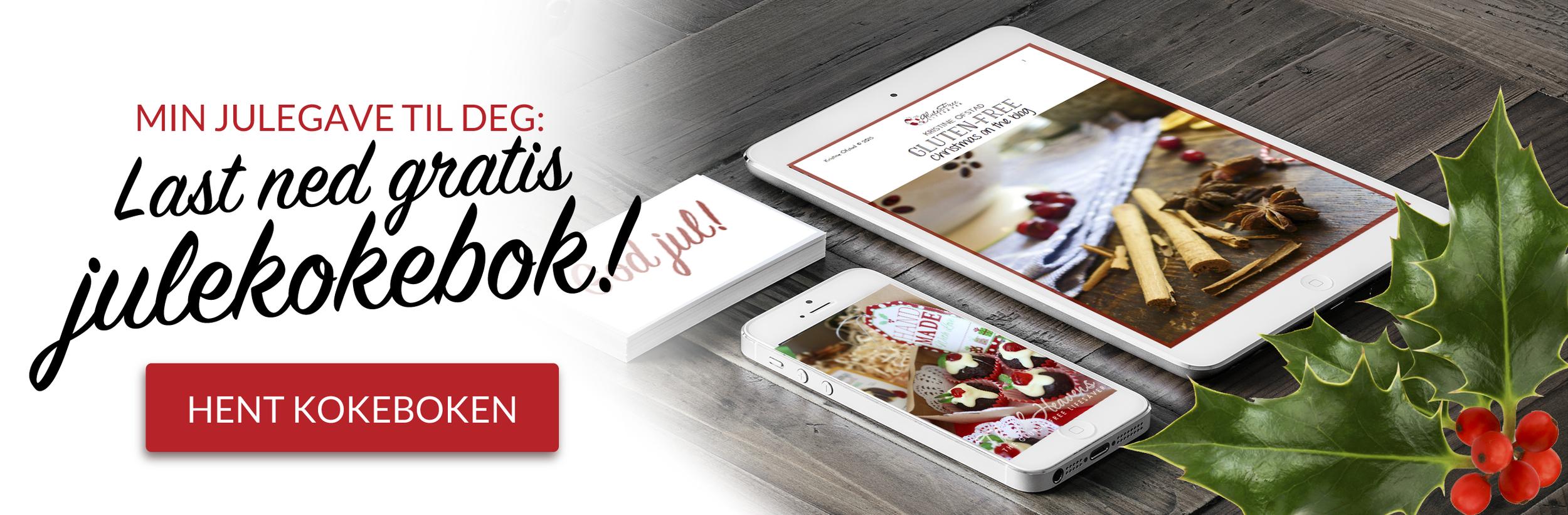 last ned gratis glutenfri kokebok med juleoppskrifter