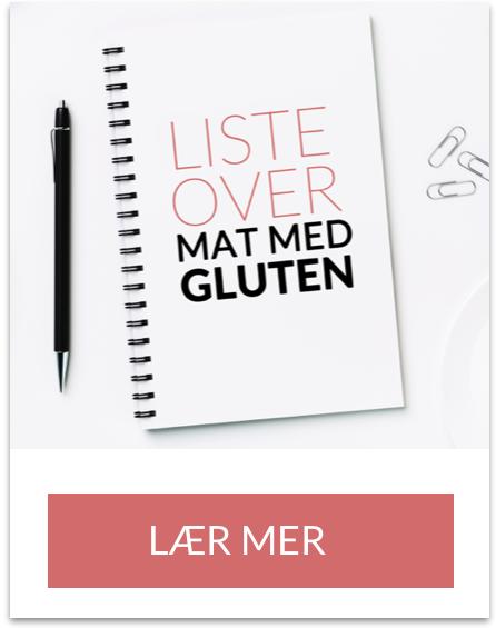 Liste oversikt over matvarer med gluten skriv ut