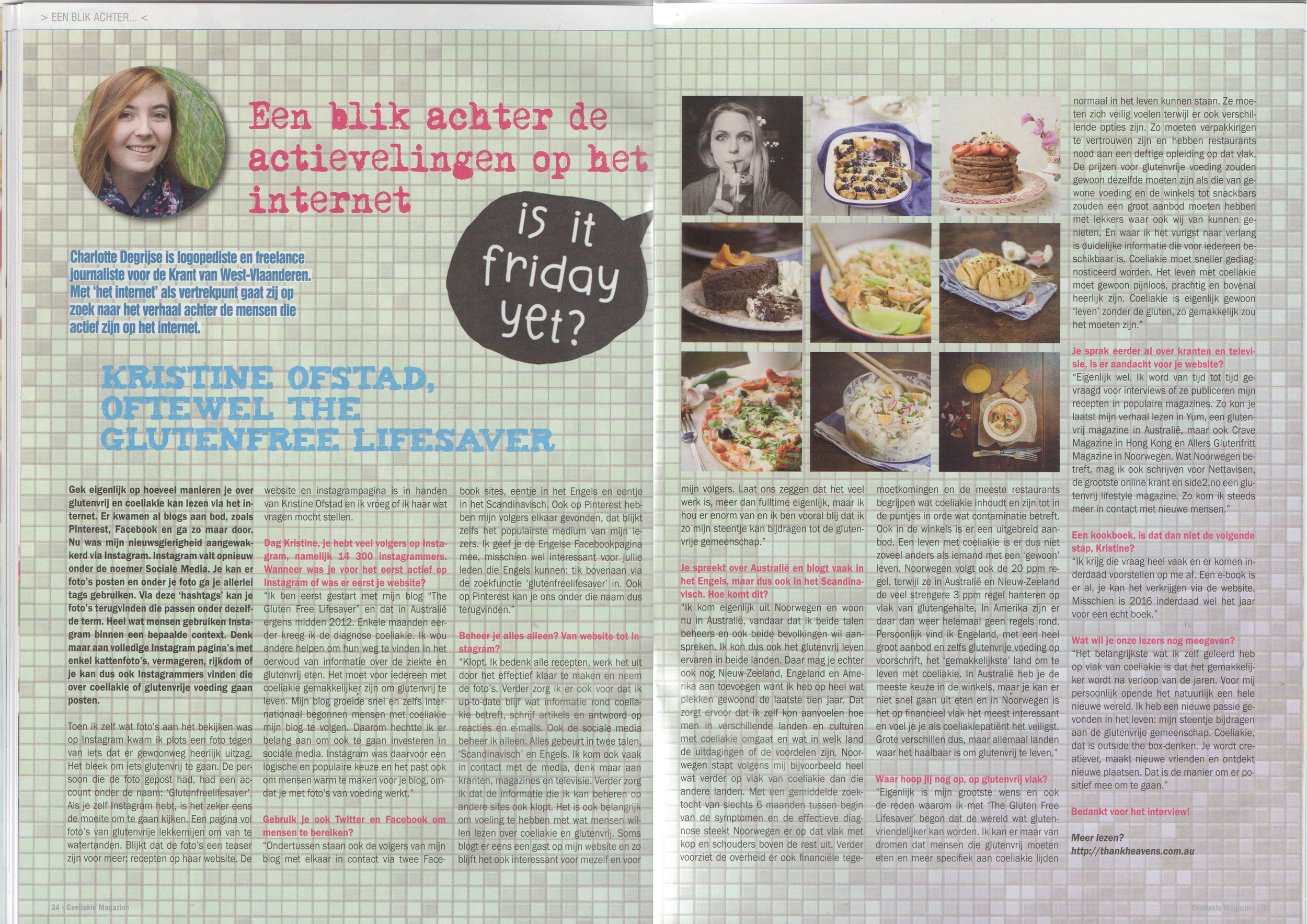 Intervju, Flemish Coeliac Assosciation