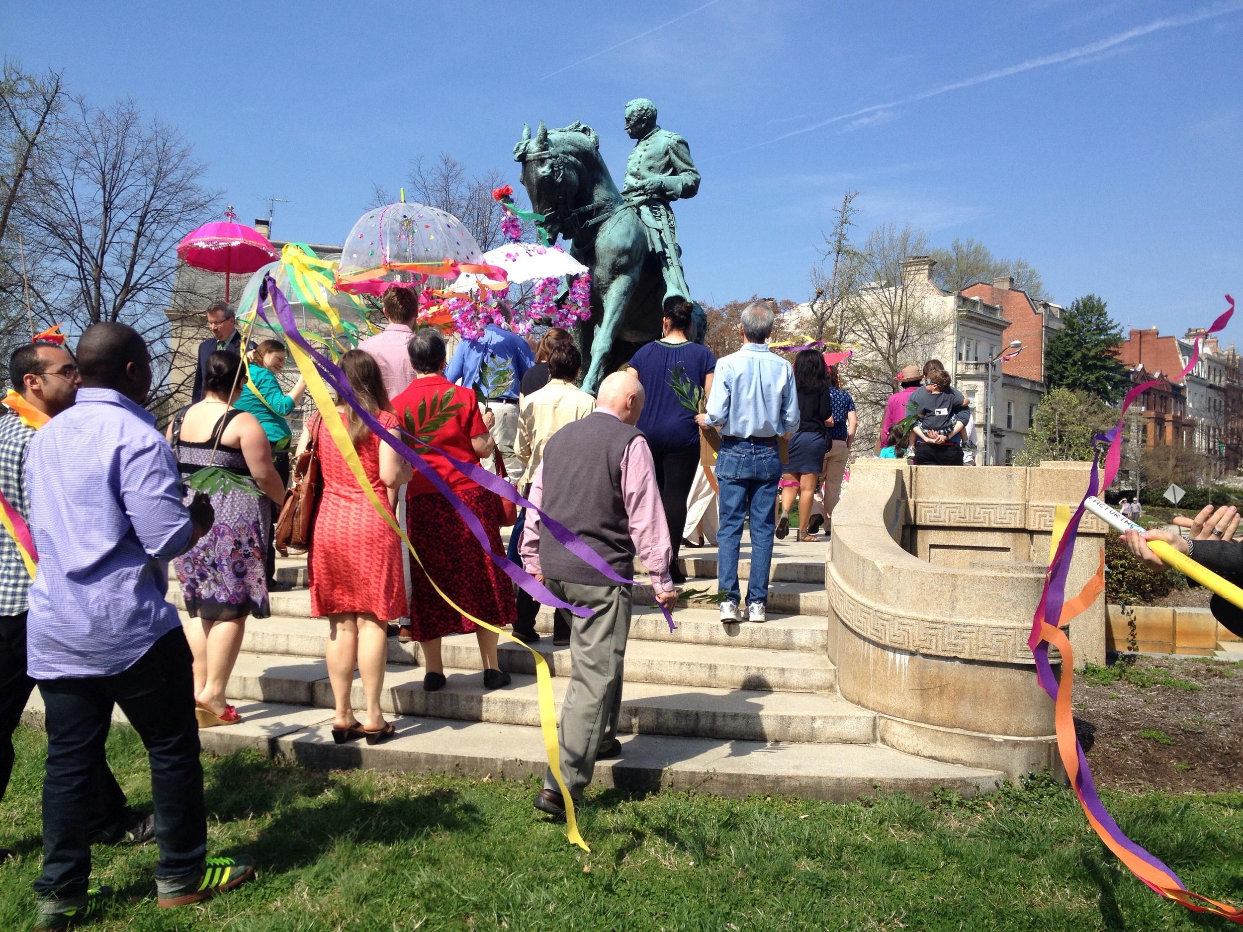 Palm Sunday procession at Church of the Pilgrims, Washington, DC