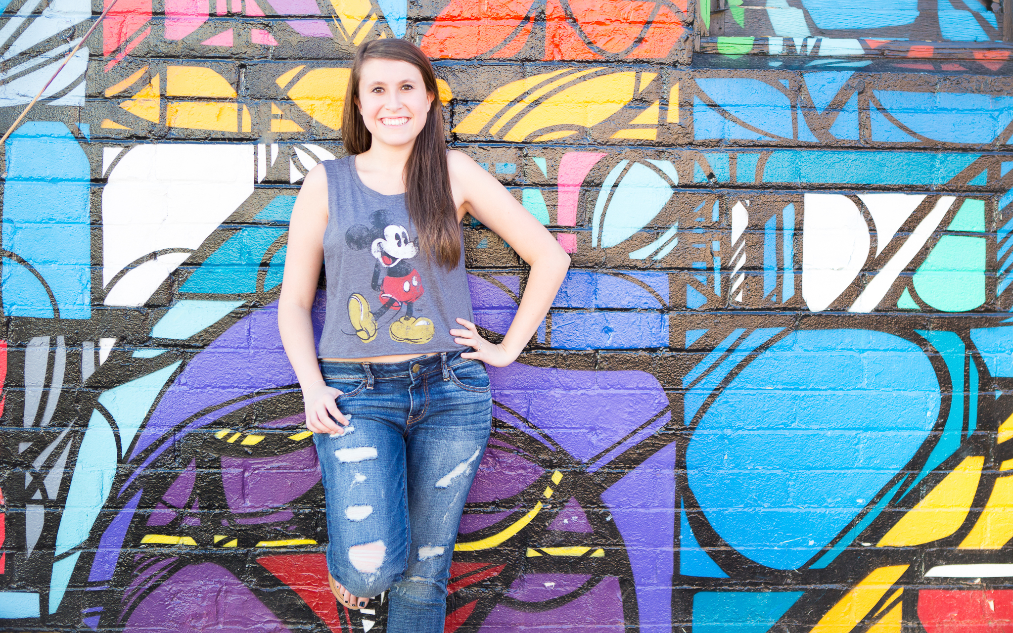 senior-photography-downtown-phoenix-mickey-mouse-colorful